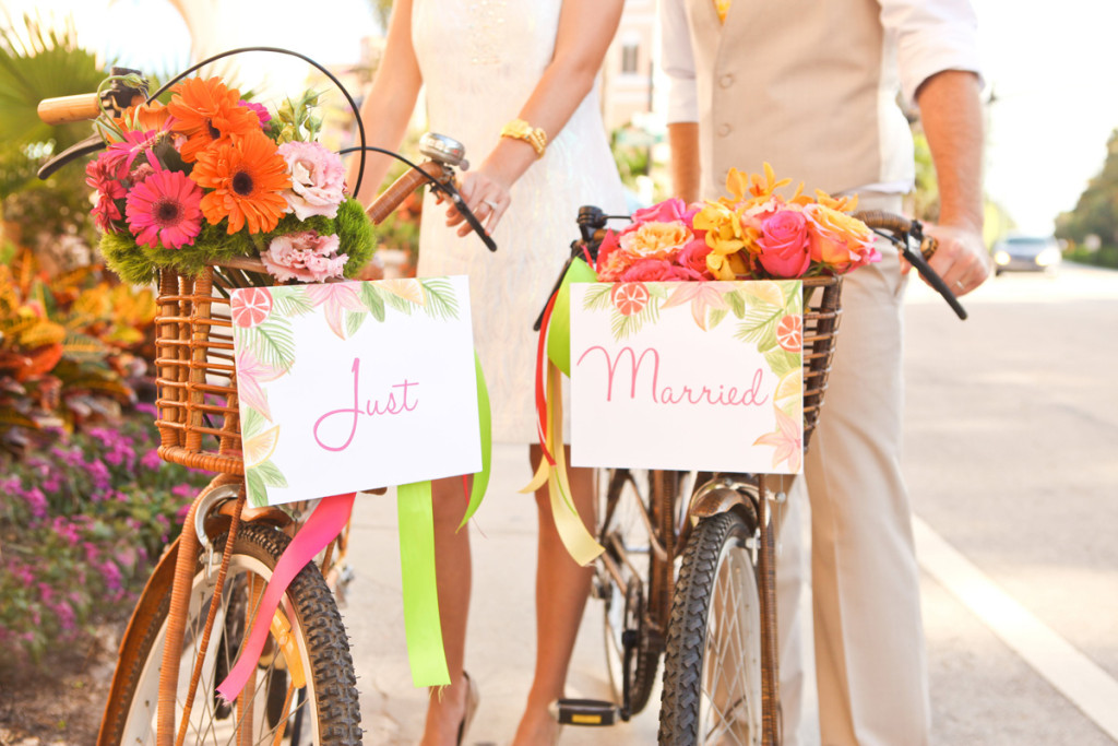 Elegant Bridal Portrait on Vintage Bamboo Bikes on Worth Avenue | The Majestic Vision Wedding Planning | The Colony Hotel in Palm Beach, FL | www.themajesticvision.com | Krystal Zaskey Photography