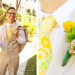 Vintage Yellow Lilly Pulitzer Tie with Elegant Lilly Pulitzer Inspired Groom Boutineer with Orange, Yellow and Pink Flowers at The Colony Hotel in Palm Beach, FL thumbnail