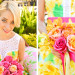 Stunning Bridesmaid in Sunglow First Impression Lilly Pulitzer Raegan Fit and Flare Dress at The Colony Hotel in Palm Beach, FL thumbnail