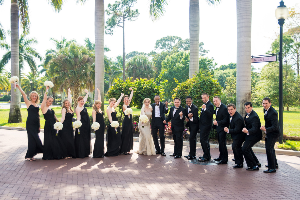 Fun and Elegant Bridal Party | The Majestic Vision Wedding Planning | The Borland Center in Palm Beach, FL | www.themajesticvision.com | Enduring Impressions Photography