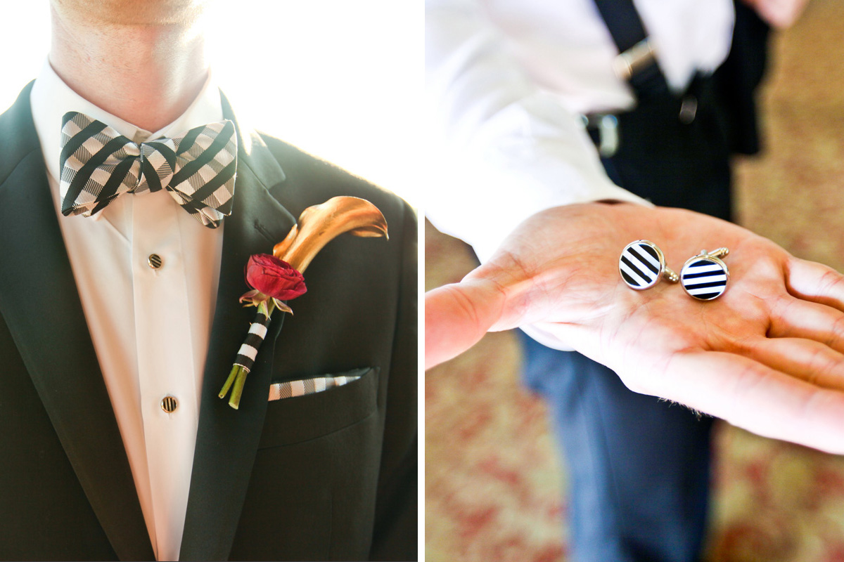 Modern Black and White Groom Accessories   The Majestic Vision Wedding Planning   Breakers West in Palm Beach, FL   www.themajesticvision.com   Krystal Zaskey Photography