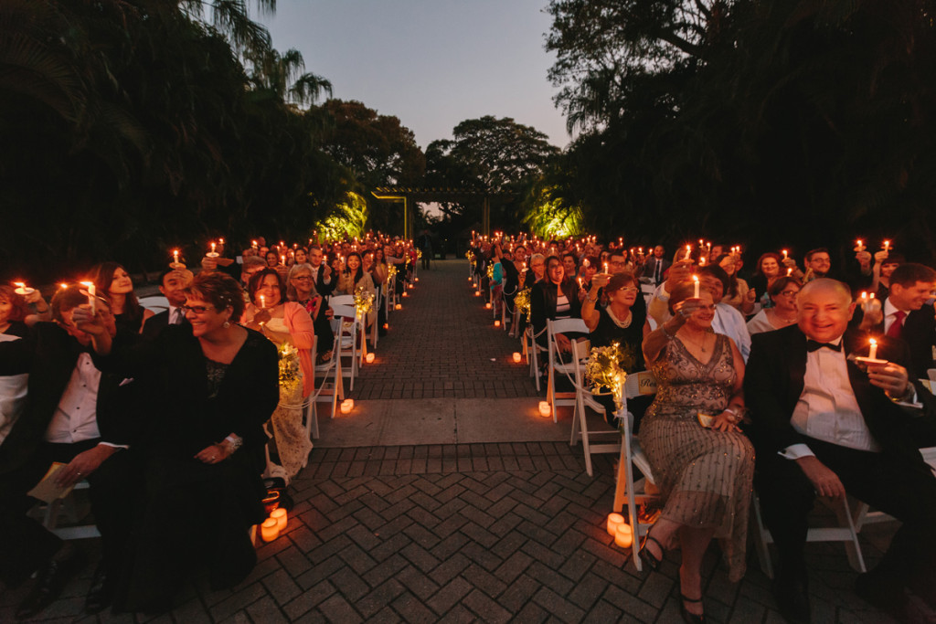 Romantic Candle Lighting Ceremony | The Majestic Vision Wedding Planning | Palm Beach Zoo in Palm Beach, FL | www.themajesticvision.com | Robert Madrid Photography