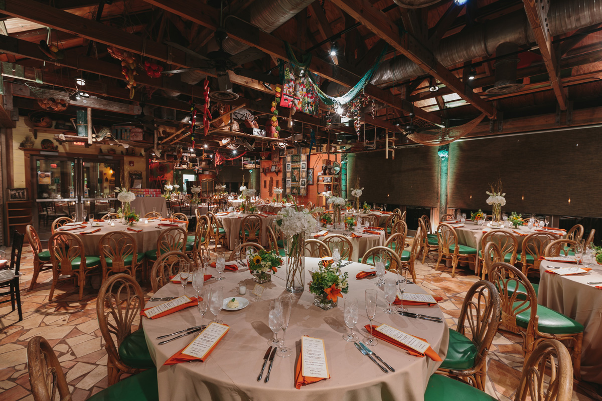 Elegant and Rustic Orange and Yellow Reception   The Majestic Vision Wedding Planning   Palm Beach Zoo in Palm Beach, FL   www.themajesticvision.com   Robert Madrid Photography