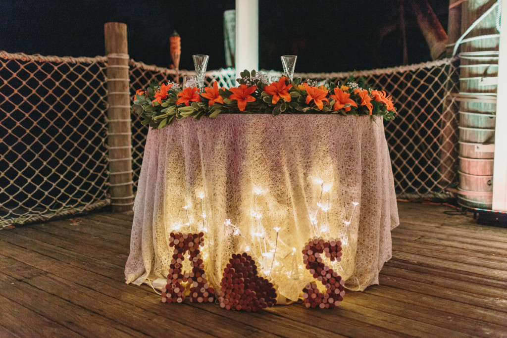 Elegant and Rustic Orange and Yellow Sweetheart Table | The Majestic Vision Wedding Planning | Palm Beach Zoo in Palm Beach, FL | www.themajesticvision.com | Robert Madrid Photography
