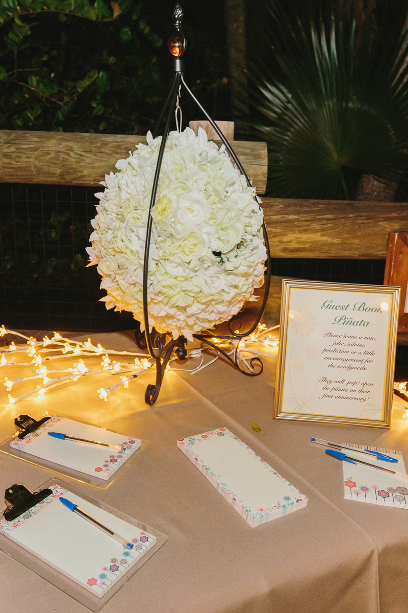 Unique Pinata Guestbook | The Majestic Vision Wedding Planning | Palm Beach Zoo in Palm Beach, FL | www.themajesticvision.com | Robert Madrid Photography