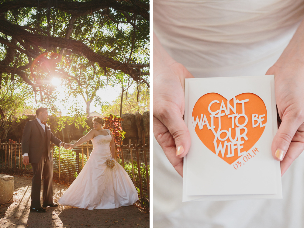 Elegant Golden Hour Bridal Portrait and Bride Note | The Majestic Vision Wedding Planning | Palm Beach Zoo in Palm Beach, FL | www.themajesticvision.com | Robert Madrid Photography