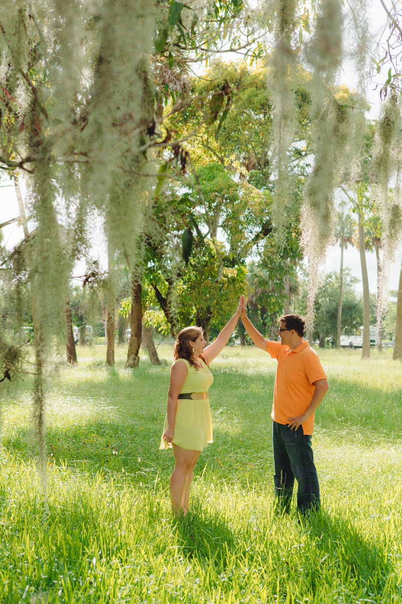 Beautiful Orange and Yellow Engagement Session | The Majestic Vision Wedding Planning | Riverbend Park in Palm Beach, FL | www.themajesticvision.com | Robert Madrid Photography