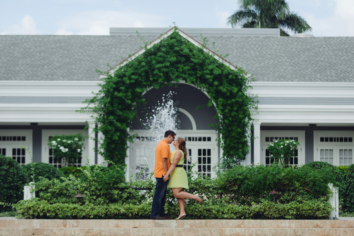 Beautiful Orange and Yellow Engagement Session | The Majestic Vision Wedding Planning | Royal Poinciana Chapel in Palm Beach, FL | www.themajesticvision.com | Robert Madrid Photography