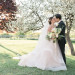Beautiful Bride in Blush Tara Keely Gown With Handsome Groom at Rustic Manor in Milwaukee, WI thumbnail