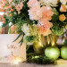 Elegant Blush and Pink Tablescape with Bronze Terrariums, Lush Greenery and Twinkle Lights at Rustic Manor in Milwaukee, WI thumbnail