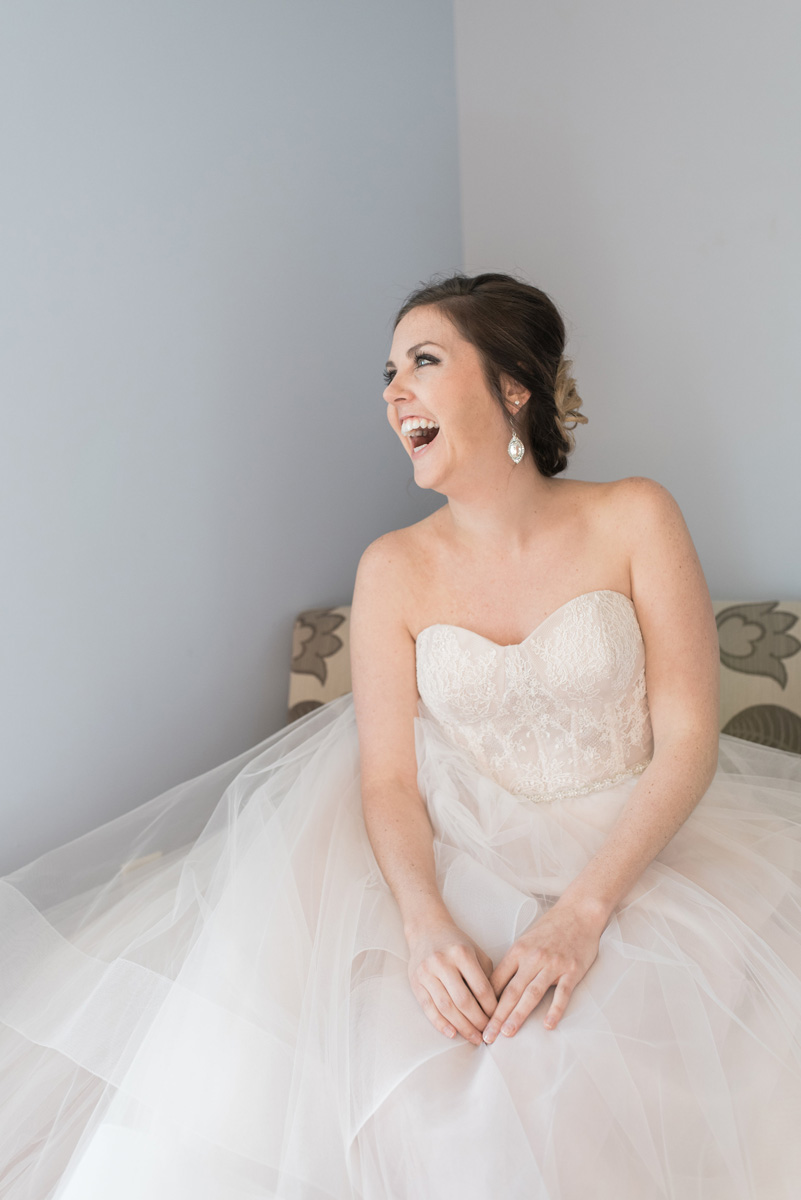 Elegant Bride in Stunning Blush Tara Keely Wedding Gown | The Majestic Vision Wedding Planning | Rustic Manor in Milwaukee, WI | www.themajesticvision.com | Elizabeth Haase Photography