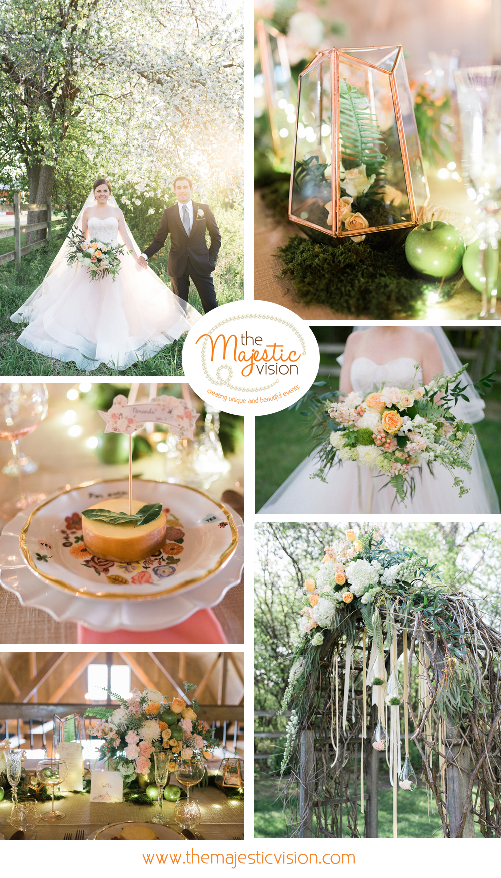 Elegant Blush and Pink Barn Wedding | The Majestic Vision Wedding Planning | Rustic Manor in Milwaukee, WI | www.themajesticvision.com | Elizabeth Haase Photography